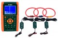 Extech PQ3470-30 Power Analyzer Kit with Set of 3 Current Clamp Probes, 3000A-