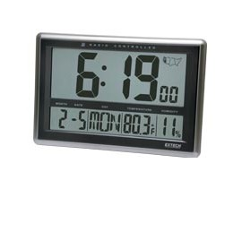 Extech Cth10 Radio Controlled Wall Clock Hygro Thermometer