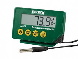 Extech TM25 Compact Waterproof Temperature Indicator with Immersion Probe-