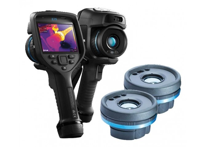 FLIR E75 Thermal Imaging Camera, 320 x 240 with 14° & 24° Interchangeable Lenses