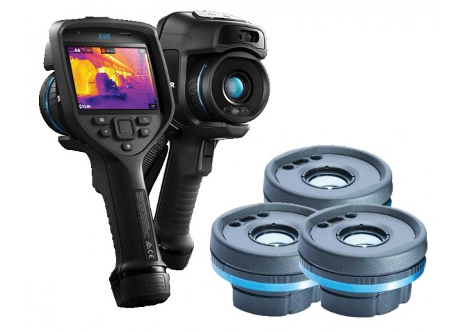 FLIR E95 Thermal Imaging Camera, 464 x 348 with 14° & 24° & 42° Interchangeable Lenses