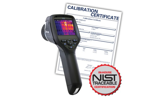 FLIR E50-NIST Thermal Imaging Camera, 43200 Pixels (240 x 180), includes NIST Traceable Certification