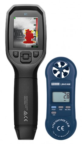 FLIR K1 Situational Awareness Camera Kit - Includes the LM-81AM Vane Anemometer for FREE-