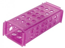 Heathrow Scientific 120685 Clinical 4-Way Tube Rack, purple-