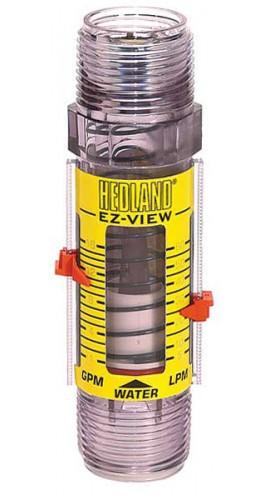 """Hedland In Line Flowmeter 10GPM 1/""""NPT"""