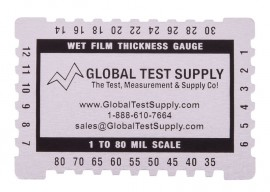 WF-CCA Wet Film Thickness Gauge, Dual Scale Micron & Mils