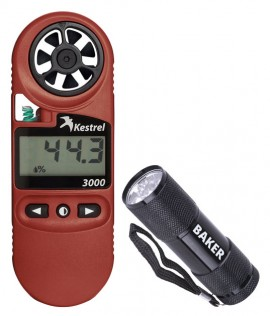 Kestrel 3000 Wind Meter Kit - Includes the B2000 LED Flashlight for FREE-
