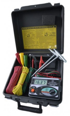 Kyoritsu 4105A-H Ground Resistance Tester, Digital, 2000Ω-