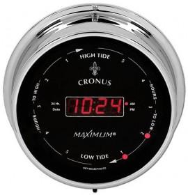 Maximum Weather Instruments Cronus Time//East Coast Tide Clock Chrome case Black dial