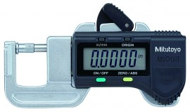 "Mitutoyo 700-118-30 Digital Thickness Gauge, 0 to 0.5""/12mm-"