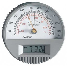 OAKTON WD-03316-80 Wall-Mount Barometer with Digital Thermometer, 27 9 to  30 9 inHg