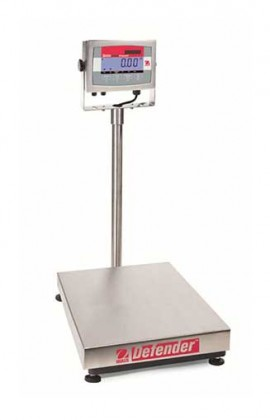 "OHAUS D32XW30VR Defender 3000 Washdown Bench Scale, 66 lbs, 14 x 12"" platform-"