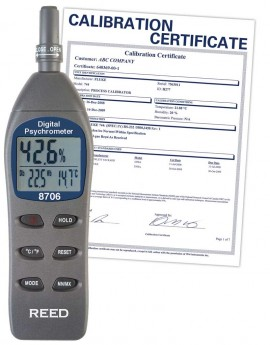 REED 8706 Digital Psychrometer / Thermo-Hygrometer, Wet Bulb, Dew Point, Temperature, Humidity,  -