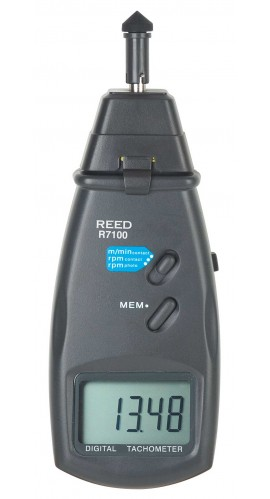 REED R7100 Combination Contact / Laser Photo Tachometer-