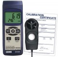 REED SD-9300-NIST SD Series Environmental Meter, Datalogger (Air Velocity/Temp, Light, Ambient Temperature, Humidity) NIST traceable Certification-