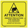 SCS 129LABEL 2in x 2in Warning Label, 500 Per Roll-