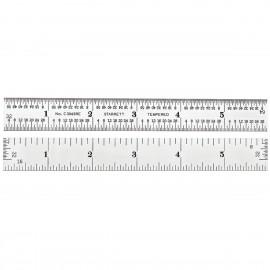"""STARRETT No.C304SRE-6  6"""" Long Semi-Flexible Steel Rule w//Inch Grad. Brand New"""