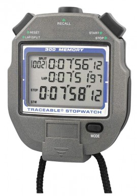 Traceable 1052 300-Memory All-Function Stopwatch-