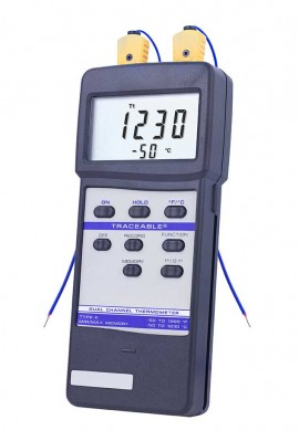 Traceable 4029 Dual Channel Thermometer-