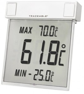 Traceable 4160 Big-Digit See-Thru Thermometer, Celsius, -25 to 70°C-
