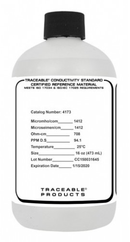 Traceable 4173 Conductivity Standard, 16 oz, 1,413 μS-
