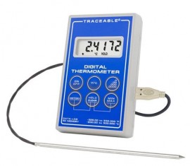 Traceable 6413 Platinum Ultra-Accurate Digital Thermometer, bullet probe-