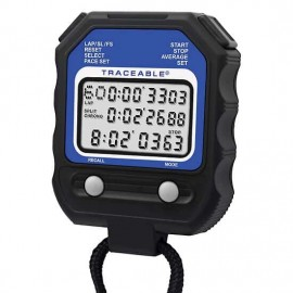 Traceable 98766-02 Digital Stopwatch with Calibration, 60-Point Memory-