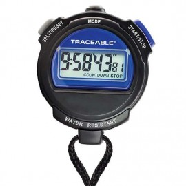 Traceable 98766-03 Digital Stopwatch with calibration, 0.01 sec resolution, ±0.0005% accuracy-