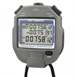 Traceable 98766-09 All-Function Digital Stopwatch with Calibration, 300-Point Memory-