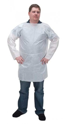 Zenith SEC857 SMS Smock with Attached Ties, Large-
