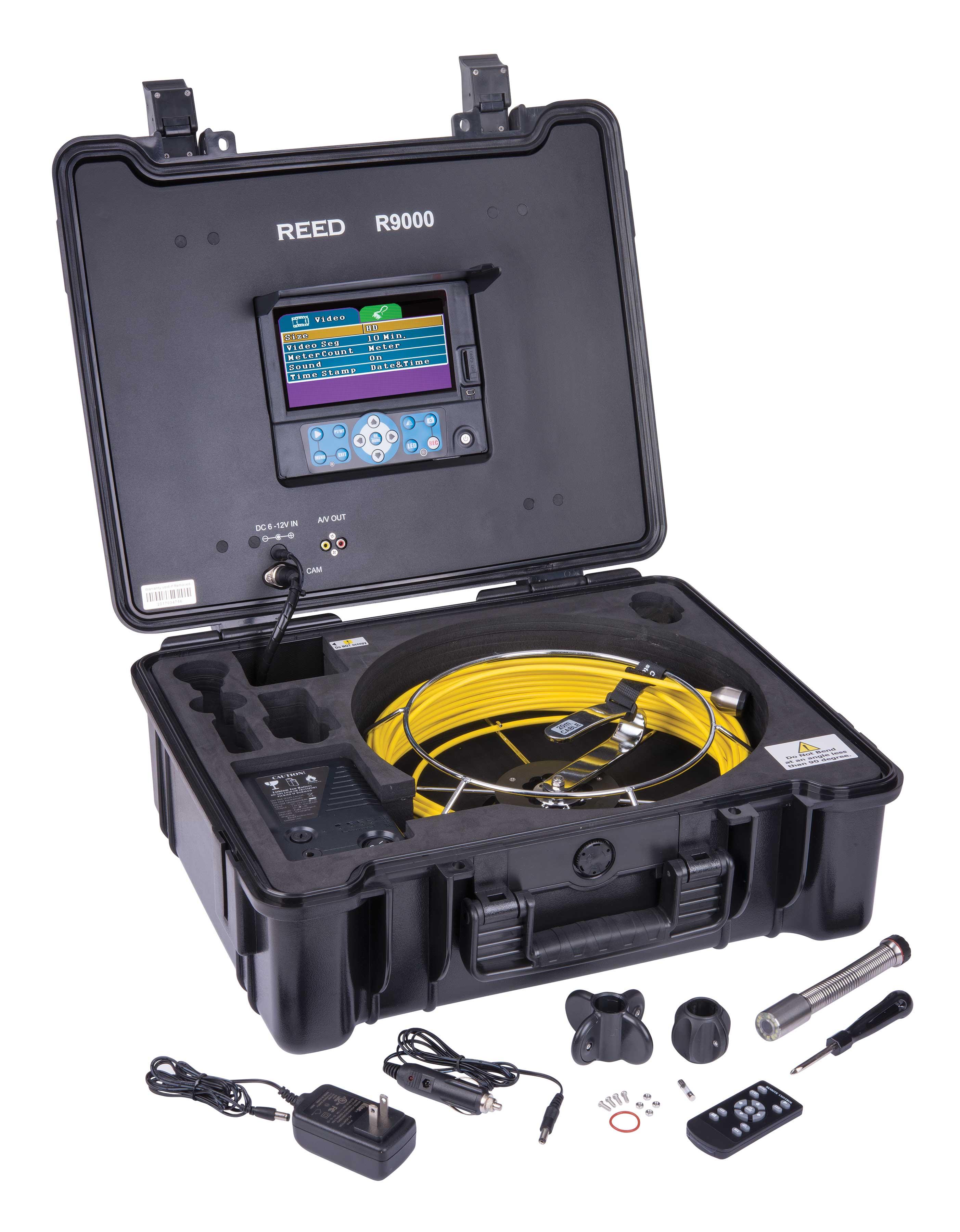 reed r9000 hd video inspection camera system. Black Bedroom Furniture Sets. Home Design Ideas
