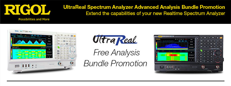 Extend the capabilities of your new Realtime Spectrum Analyzer with UltraReal analysis - FREE bundle promotion.